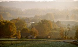 Autumn Village Stock Photography