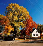 Autumn Village Lizenzfreie Stockfotos