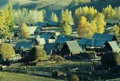 Autumn village  Baihaba, xinjiang,china Stock Image