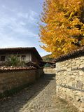 Autumn in the village Zheravna. Of Bulgaria stock image
