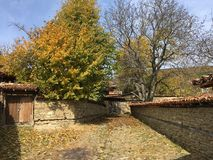 Autumn in the village Zheravna. Of Bulgaria royalty free stock photo