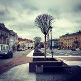 Autumn Vilnius Litauen Arkivfoton