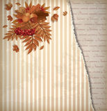 Autumn vintage background in scrapping style Royalty Free Stock Photo