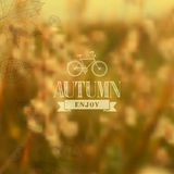 Autumn vintage blurred background. Enjoy Autumn vintage label with abstract blurred fall leaves background. EPS10 vector organized in layers ready for editing Vector Illustration