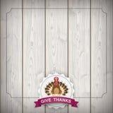 Autumn Vintage Emblem Thanksgiving Turkey Stock Photography