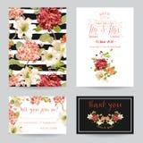 Autumn Vintage Hortensia Flowers Save die Datums-Karte für die Heirat, Einladung, Partei Stockbild