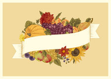 Autumn. Vintage vector card. Royalty Free Stock Images