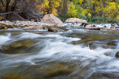 Autumn on the virgin river Stock Photography