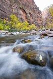 Autumn on the virgin river Stock Photo