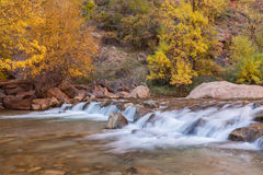 Autumn on the Virgin River Royalty Free Stock Image
