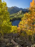 Autumn Vista from Bear Lake Rock Pile Stock Photography
