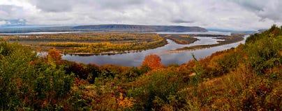 Autumn Volga. Immagini Stock Libere da Diritti