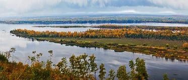 Autumn Volga. Fotografia Stock