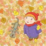 Autumn Walk Foto de Stock Royalty Free