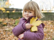 Autumn walk Royalty Free Stock Image