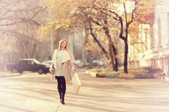 Autumn walk through Moscow Royalty Free Stock Photography