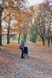 Autumn walk in the park Stock Photography