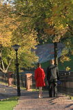 Autumn Walk. Together on a wonderful autumn park Stock Photography