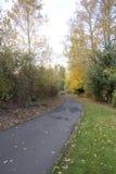 Autumn Walk on trail Stock Image