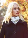 Autumn walking fashion woman Stock Image