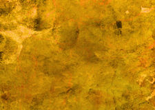 Autumn Wall Texture Yellow Abstract Grunge fördärvad skrapad texturbakgrund Arkivbilder