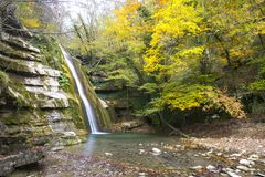 Autumn water fall Royalty Free Stock Photography