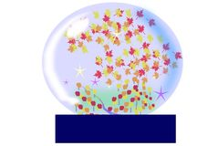 Autumn Water Globe Royalty Free Stock Photo