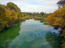 Autumn water landscape Royalty Free Stock Photo