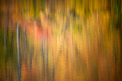 Autumn Water Reflection Royalty-vrije Stock Afbeelding