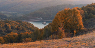 Autumn Water Reservoir Stock Images