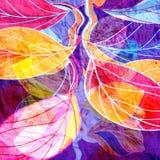 Autumn Watercolor Background Stock Photos