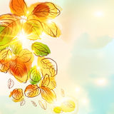 Autumn. Watercolor background.The illustration contains transparency and effects. EPS10 Stock Image