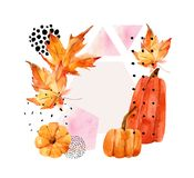Hand drawn falling leaf, doodle, water color, scribble textures for fall design. Stock Photos