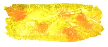 Autumn watercolor background. Watercolor effect. Yellow-orange r royalty free stock images