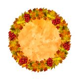 Autumn watercolor frame stock images