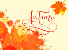 Autumn in watercolor frame Stock Photography