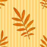 Autumn watercolor leaf, vector seamless pattern Stock Image
