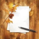 Autumn Watercolor Painting Background Photos libres de droits