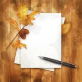 Autumn Watercolor Painting Background Royalty Free Stock Photos