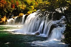 Free Autumn Waterfall Stock Images - 113010714