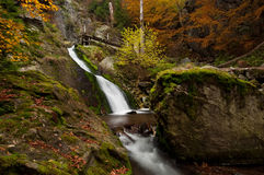 Autumn Waterfall Royalty Free Stock Photos