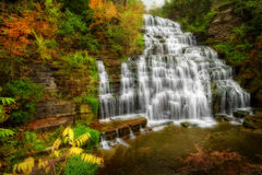 Autumn Waterfall Stockfoto