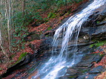 Autumn Waterfall. An Autumn waterfall is captured in the hills of North Carolina Royalty Free Stock Photo