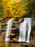 Autumn Waterfall Canyon River Stock Images
