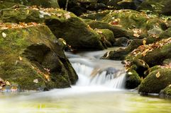 Autumn waterfall detail Royalty Free Stock Photo