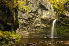 Autumn Waterfall Stock Photography