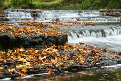 Autumn waterfall in Estonia royalty free stock photography