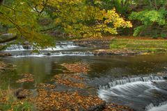 Autumn waterfall in Estonia Stock Image