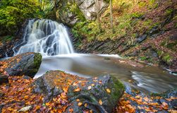 Autumn waterfall Royalty Free Stock Image