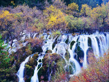 Autumn Waterfall In Jiuzhaigou Royalty Free Stock Images